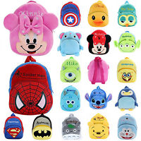 Toddler Boys Girls Kids Cartoon Backpack Rucksack Plush Mini School Bag Bookbag