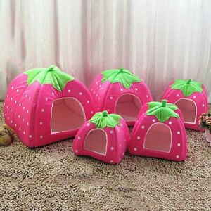 Pet House Kennel Cat Dog Bed Sleeping Cushion Cave Nest Puppy Warm Pad Mat Tents