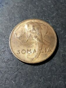 1950 SOMALIA 5 CENTESIMI ELEPHANT COIN #oct161