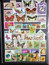 COLLECTION OF THEMED STAMPS: INSECTS BUTTERFLIES