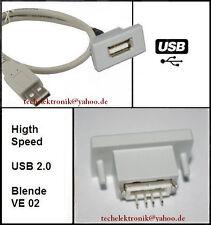 USB Einbaubuchse einbausteckdose Buchse 50cm MP3 passend zu E60 E46 E90 E30 Auto