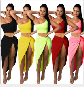 Women's Sexy Pleated Skirt Leisure Suit Two-Piece Big Yards Nightclub Party