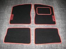 Alfombrillas de En Negro/rojo para adaptarse a Renault 5 Gt Turbo (1985) + Gt Turbo Logos (rojo)