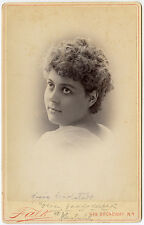 c1889 Cab Card of Victorian Comic Opera Actress, Miss Claudia Carlstedt