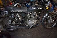 1973 HONDA CB350 Classic Motorcycle NO RESERVE