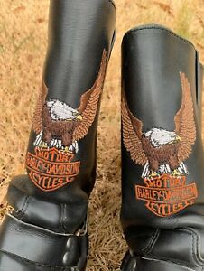 Harley Davidson steel toe Eagle Oil Chemical Sierra Resistant Boots. Size 10 D
