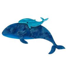 Erstwilder Brooch Benevolent Behemoths Blue Whale BNIB