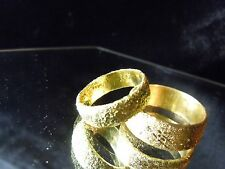 WHY WEAR 10K14K USA PLACER 22K SOLID GOLD BULLION WEDDING SET APM JEWELRY #83C4