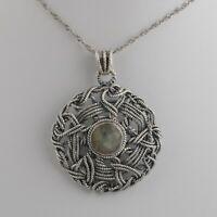 Handmade 925 Solid Sterling Silver Indian Jewelry Labradorite Gemstone Pendant