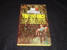 "Gold Medal D1761 $0.50 cover John D MacDonald ""YOU LIVE ONCE"" McGinnis"