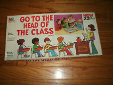 "Milton Bradley ""Go To The Head of The Class"" Game 1978 20th ED. Ages 8+ 2-8 Play"