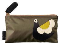 Orla Kiely Womens Birdie Applique Nylon Pencil Case Wallet Khaki Green