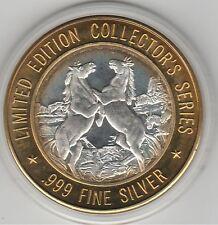 Prairie Meadows Altoona IA Rearing Horses .999 Fine Silver $10 Casino  Token