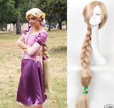 Tangled Rapunzel wig Long Blonde Handcraft Braid Cosplay wig Women100cm