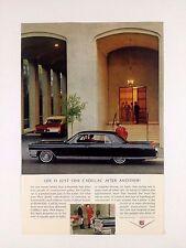 Vintage 1964 Cadillac 4 Door Original Print Ad GM Automobile Black