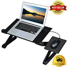 Adjustable Aluminum Laptop Desk Ergonomic Portable TV Bed Lapdesk Tray PC Table