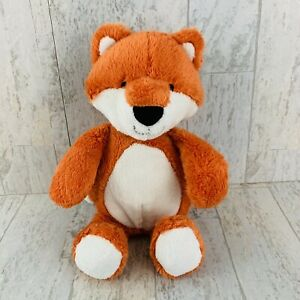 "Carters FOX Orange White Plush 10"" Stuffed Animal Baby Lovey RARE"