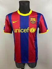 BARCELONA 2010/2011 HOME FOOTBALL SOCCER JERSEY SHIRT ADULT NIKE SIZE S