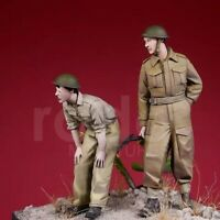 1/35 Resin Figure Model Kit British 8th Army Soldiers WWII Unpainted Unassambled