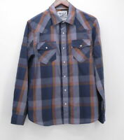 Levi's Men's Medium Two Horse Brand Western Shirt l/s Snaps blue gray red plaid