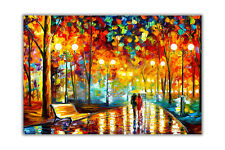 AT54378D Rains Rustle By Leonid Afremov Abstract Poster Prints Wall Art Decor