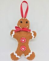 Make Your Own Felt Christmas Tree Decoration Kit - Gingerbread Man