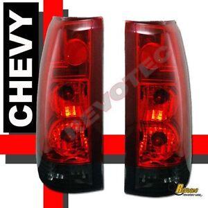 88-98 Chevy GMC C/K C10 1500 2500 3500 Silverado Sierra Red Smoke Tail Lights