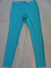 NWT $44 Hue Women The Original Denim Leggings Sz S Blue Curacao