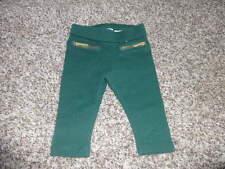 NWOT NEW JANIE AND JACK 3-6 AUTUMN SAFARI GREEN LEGGINGS