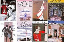 Collection of 43 vogue small prints.Millinery.Fashion.Beauty.Costume.Art.Artist