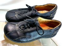 CLARKS Unstructured Women's Black Leather Lace Up Casual Shoes Size 7 M US