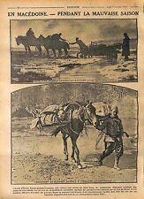 Macedonia Macédonie Serbia Cavalry Armée d'Orient Poilus Mules Mulets  WWI 1916