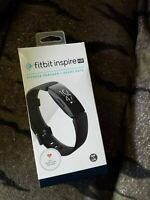 Fitbit FB413BKBK Inspire HR Heart Rate & Fitness Tracker, One Size (S & L bands