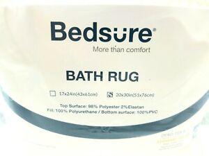Bedsure Memory Foam Bath Mat Non Slip Bathroom Rug Absorbent White New