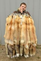 "Tanned Red Fox  Winter ""Heavy Fur"" Western XL Pelt, Hide, Medium Grade (rfwhmg)"