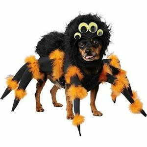 Spider Pup Dog Costume Pet Animal Insect Tarantula Legs Funny Scary Fur Dress Up
