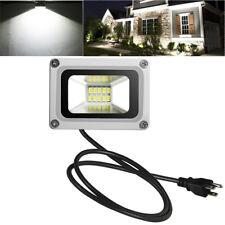10W US Plug LED Flood Light Cool White Bulb Outdoor Landscape Lamp Spotlights