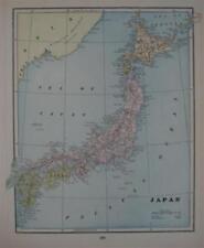 1896 Map Japan Yokohama Tokyo Osaka Sendai Kyoto Hamada