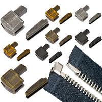 5Sets Metall Reparatur Zipper Stopper Offene Ende Zipper Stopper DIY NähenZipper