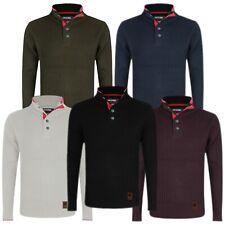 Mens Crew Neck Jumper Stallion Long Sleeve Sweater Knit Pullover Sweatshirt New