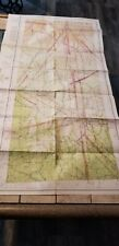 "VINTAGE RARE 1942 SECTIONAL AERONAUTICAL CHART MAP OKLAHOMA CITY, OK 46"" X 24"""