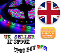 IP68 RGB LED Strip Light, 5MT 5050 24V MORE POWERFULL UK STOCK