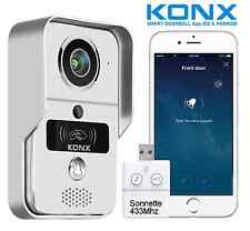 KONX®KW02C Interphone 720p IP-Wifi-Relais porte-RFID-Full Duplex+Sonnette 433Mhz