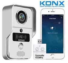KONX®KW02C Interphone 720p IP+Wifi+Relais porte+RFID+Full Duplex+Sonnette 433Mhz
