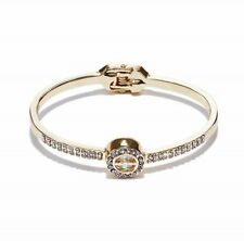 Genuine GUESS BANGLE BRACELET Womens Gold Rhinestones & Caged Crystal NEW