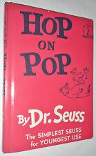 RARE DR SEUSS HOP ON POP BOOK 1963 RED COVER OFFSET PRINT ERROR PERMA BOUND. MLK