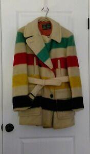 Vintage Hudson Bay Pt. Blanket Wool Coat-1950's- Original Owner- made in England