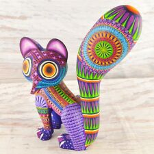 A1600 Racoon Alebrije Oaxacan Wood Carving Painting Handcrafted Folk Art Mexi