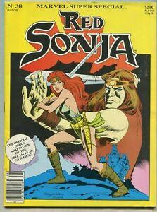 Marvel Super Special #38 Fine Red Sonja Movie Adaptation Marvel Comics 1985 SA