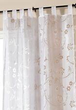 Gardine Vorhang Schlaufenschal Store transparent weiß 245 x 140 cm Ausbrennoptik